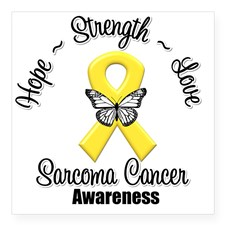 sarcoma_cancer_hope_strengt_square_sticker_3_x_3
